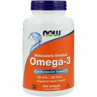 Now Foods, Омега-3, 180EPA/120DHA, 200мягких таблеток