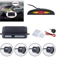 Car Audio Buzzer Alarm Monitor Detector System Display Car Auto Reversing LED Parking With 4 Sensors Reverse Backup