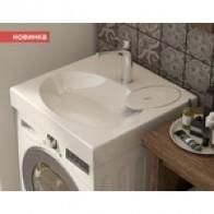 Раковина на стиральную машину Эстет Lea 60x60 с кронштейнами и сифоном: купить недорого в интернет-магазине, низкие цены