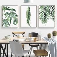 Акварель Wall Art Холст Картина Зеленый Стиль завод скандинавском стиле Плакаты и принты декоративная картина Современное украшение для дома