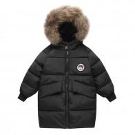 1161.76 руб. 20% СКИДКА|Детское зимнее пальто с капюшоном для маленьких мальчиков и девочек, куртка плащ, плотная теплая верхняя одежда, зимнее пальто с длинными рукавами, детский зимний костюм для девочек A купить на AliExpress
