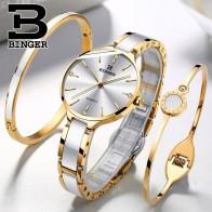 US $59.28 52% OFF|Switzerland BINGER Luxury Women Watch Brand Crystal Fashion Bracelet Watches Ladies Women wrist Watches Relogio Feminino B 1185-in Women