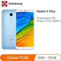 8758.26 руб. |Оригинальный Смартфон Xiaomi Redmi 5 Plus, 3 Гб ОЗУ, 32 Гб ПЗУ, Восьмиядерный процессор Snapdragon 625 5,99