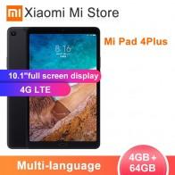 18275.31 руб. 20% СКИДКА|Многоязычная Xiaomi mi Pad 4 Plus 64 Гб/128 ГБ Планшеты 4 Snapdragon 660 AIE 8620 mAh 10,1
