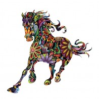 US $4.69 20% OFF|Running Horse Wall Sticker Flower Pattern Horse Sticker Living Room Sofa Background Stickers Decoration Home Poster Stickers -in Wall Stickers from Home & Garden on Aliexpress.com | Alibaba Group