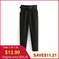1014.41 руб. 38% СКИДКА|Tangada классические брюки черные  брюки с поясом брюки с ремнем брюки с высокой талией брюки для офиса желтые брюки горчичные брюки розовые брюки брюки с завышенной талией 6A22-in Штаны и капри from Женская одежда on Aliexpress.com | Alibaba Group