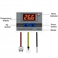 W3001 Digital Control Temperature Microcomputer Thermostat Switch Thermometer New Thermoregulator 12/24/220V
