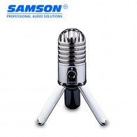 4480.21 руб. 25% СКИДКА|Горячий оригинальный Samson метеоритный микрофон USB конденсаторный микрофон Студийный микрофон для компьютера Ноутбук Сеть подкасты с откидной ногой купить на AliExpress