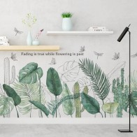 US $8.12 28% OFF|Tropical Plants Green Leaves Wall Stickers Living room Bedroom Bathroom Kids room Vinyl Wall Decals Art Murals Home Decor-in Wall Stickers from Home & Garden on Aliexpress.com | Alibaba Group