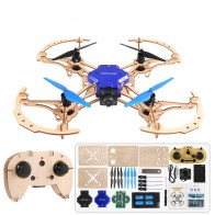 US $34.99 25% OFF|200mm DIY RC Drone 2.4G FPV Altitude Hold Display Wooden Quadcopter With Camera 720P/480P Meaningful And Interesting Quadcopter-in RC Helicopters from Toys & Hobbies on Aliexpress.com | Alibaba Group