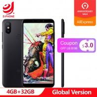 9394.02 руб. |Глобальная версия Xiaomi mi A2 mi A2 4 Гб Оперативная память 32 GB Встроенная память Мобильный телефон Snapdragon 660 Octa Core 5,99