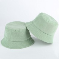 Blank Corduroy Bucket Hat For Women Spring Autumn Plain Men Panama Outdoor Hiking Beach Fishing Cap Sunscreen Female Sunhat Bob