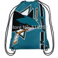 Сан Хосе Шаркс шнурок рюкзак персонализированные сумки НХЛ 35x45 см спортивная команда купить на AliExpress
