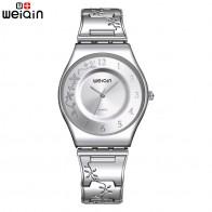 US $27.41 |WEIQIN Fashion Silver Women Watches 2018 High Quality Ultra thin Quartz Watch Woman Elegant Dress Ladies Watch Montre Femme-in Women