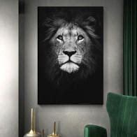 Картина на холсте, животные, настенная живопись, Лев, слон, олень, плакаты с зеброй и принтами, настенные картины для гостиной, украшение для ...