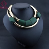 US $8.26 30% OFF|Vintage Wood Beads Pendant Initial Necklace for Women Fashion Green Black Choker Kpop Big Name Bijoux Femme American jewelry-in Torques from Jewelry & Accessories on Aliexpress.com | Alibaba Group