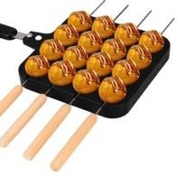 LBER 16 отверстий, алюминиевое устройство для приготовления такояки, гриль, сковорода, осьминог, Шариковая тарелка для домашнего приготовлени... - Вафельница-гриль