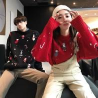 Женские повседневные свободные Рождественские свитера новые модные дизайнерские осенние и зимние трикотажные пуловеры свитер купить на AliExpress
