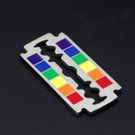 Youe светило флаг ЛГБТ Радуга лезвие бритвы кулон ЛГБТ геев и лесбиянок гордость Цепочки и ожерелья купить на AliExpress