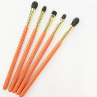 1485.88 руб. 5% СКИДКА|Профессиональные кисти для макияжа Синий белка козьей шерсти тени Blending Brush оранжевой ручкой pincel maquiagem Make Up Brush купить на AliExpress