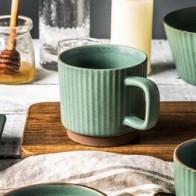 Скандинавские винтажные кофейные чашки с ручкой креативные текстурированные европейские фарфоровые чайные чашки Xicara Porcelana домашняя посуд... - Предметы для кухни
