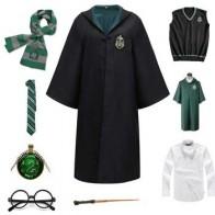 Мужской женский халат, плащ, одежда, зеленый костюм Квиддич, волшебная школьная вечерние маскарадная форма для Хэллоуин, костюм - Костюмы для хэллоуина