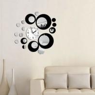 Honana DX-X6 Créatif 3D Acrylique Miroir Mur Autocollant Quartz Horloges Montre Grand Décor de Maison