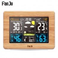 1656.35 руб. 57% СКИДКА|FanJu fj3365 цифровой будильник цветной Метеостанция датчик температуры и влажности барометр, настольный стол, настольные часы-in Будильники from Дом и сад on Aliexpress.com | Alibaba Group