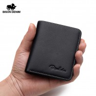 US $14.99 49% OFF|BISON DENIM Black Purse For Men Genuine Leather Men