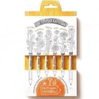 """Растущий карандаш """"Цветочный карнавал"""", 6 шт. бренда Эйфорд - Все, что тебе сейчас нужно"""