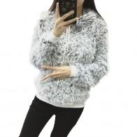 681.1 руб. 30% СКИДКА|2018 осенне зимний женский свитер с разноцветной отделкой модный свитер с капюшоном и воротником Повседневный Свободный вязаный свитер с длинными рукавами для женщин-in Пуловеры from Женская одежда on Aliexpress.com | Alibaba Group