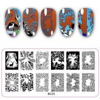 77.17 руб. 15% СКИДКА|12*6 см Прямоугольный шаблон штамповочных плит красивый цветочный дизайн маникюрная пластина для стэмпинга-in Шаблоны для дизайна ногтей from Красота и здоровье on Aliexpress.com | Alibaba Group
