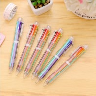 US $0.53 45% OFF|New Arrival 1pcs Novelty Multicolor Ballpoint Pen Multifunction 6 In1 Colorful Stationery Creative Cute School Supply Christmas-in Ballpoint Pens from Office & School Supplies on Aliexpress.com | Alibaba Group