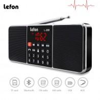 1233.06 руб. 18% СКИДКА|Lefon цифровое портативное радио AM bluetooth динамик FM стерео MP3 плеер TF/SD USB привод громкой связи вызов светодиодный экран дисплея-in Радио from Бытовая электроника on Aliexpress.com | Alibaba Group