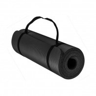 Коврик для йоги EasyFit NBR SOFT-Touch 10 мм черный (мат-каремат спортивный, йогамат для фитнеса, пилатеса)