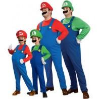 Косплэй взрослых и детей Super Mario Bros Косплэй танцевальный костюм комплект Дети Halloween Party Марио и Луиджи костюм для детей подарки - Костюмы для хэллоуина