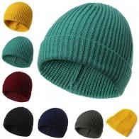 1 шт. однотонная желтая шапочка вязаная Мужская Женская осенне зимняя Мягкая Теплая Лыжная шапка купить на AliExpress