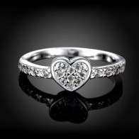 Подарок на день матери, оригинальное кольцо в виде сердца из циркония 925 пробы, модные кольца в виде сердца для женщин, свадебные украшения