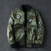 Winter Bomber Jacket Men Military Pilot Jacket Badge Fashion Double Side Wear Motorcycle Jacket aautumn Youth Big Size 6XL 7XL