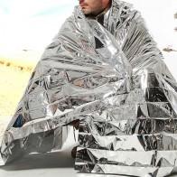 15.05 руб. 24% СКИДКА|1 шт. наружное водонепроницаемое аварийное спасательное одеяло из фольги для первой помощи набор для выживания в походе supervencia