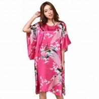 352.39 руб. 39% СКИДКА|Летнее горячее розовое сексуальное шелковое вискозное домашнее платье женская летняя ночная рубашка халат кимоно халат плюс Размер 6XL A 071-in Халаты from Нижнее белье и пижамы on Aliexpress.com | Alibaba Group