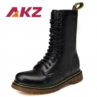 € 27.23 49% de DESCUENTO|AKZ color mezclado Unisex Mediados de becerro botas nueva moda Otoño Invierno Hombres Calientes Martin botas de alta calidad Split de cuero botas altas en Botas motorista de Zapatos en AliExpress.com | Alibaba Group