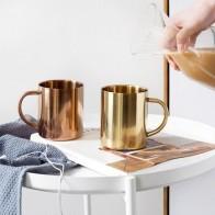 Кружки для молока и кофе, утепленные кофейные кружки из нержавеющей стали с двойными стенками, кружки чашки для чая, большая дорожная кружка... - Любителям чая