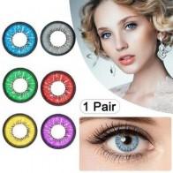 1 пара очаровательных глаз, унисекс, цветные круглые большие глаза, красивые контактные линзы, косметический инструмент для красоты, контак... - Насте