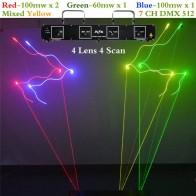 12198.25 руб. |AUCD 4 объектив RGBY Laser 7CH DMX DPSS сканер Оборудование сценическое освещение проектор DJ вечерние Вечеринка диско шоу Professional огни DL55C + купить на AliExpress