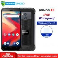 17988.15 руб. |Ulefone Power X2 IP68 Водонепроницаемый мобильный телефон Android 8,1 5,5
