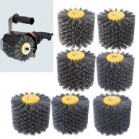 Deburring Abrasive Wire Drawing Round Brush Head Polishing Grinding Buffer Wheel