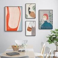 Семейный современный стиль, европейский стиль, декоративная живопись, простой стиль, рисунок карандаша, девушка, украшение стены, плакат o20 - Плакаты и постеры