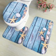 US $5.51 31% OFF|3pcs/set Flannel Print Non Slip Toilet Bathroom Pad Floor Mat Rug Carpet Absorbent Pedestal Rug Lid Toilet Cover Bath Mat-in Toilet Seat Covers from Home & Garden on Aliexpress.com | Alibaba Group