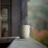 Кофейная кружка, высококачественная керамическая чашка ручной работы с ручкой, короткая стильная посуда для молока и чая, фирменные креати... - Любителям чая